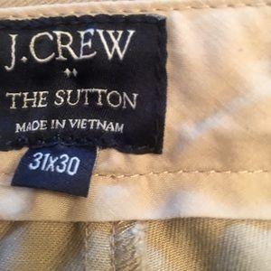 Khakis 31x30 j crew never worn.